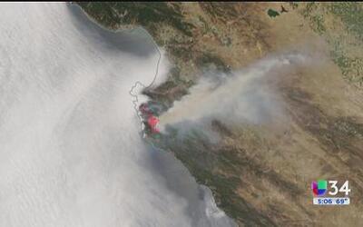 Imágenes del incendio Soberanes desde el espacio