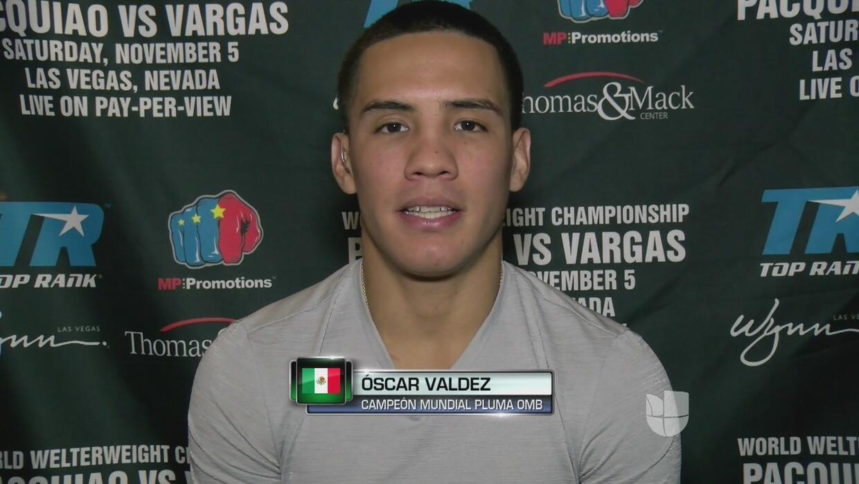 """Oscar Valdez: """"Nos costó mucho tener este cinturón y hay que cuidarlo"""""""