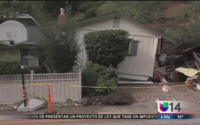 Casa destruida por deslave en San Rafael