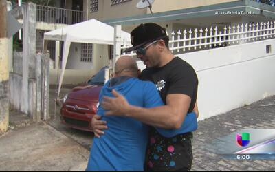 Reencuentro y abrazos entre Oscarito y Banchy