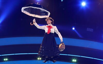 Voló como Mary Poppins, pero Bianca Marroquín le teme a las alturas