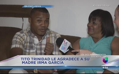 Tito Trinidad asegura que le debe a su mamá mucho más que el caldito de...