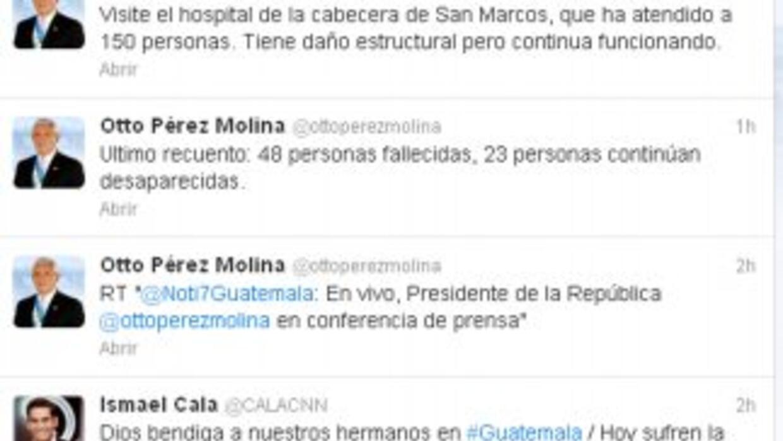 A través de su cuenta @ottoperezmolina, el mandatario declaró alerta roj...