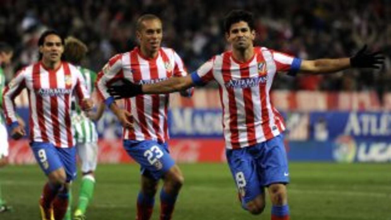 El brasileño Costa lleva algunos partidos siendo el goleador del Atlétic...