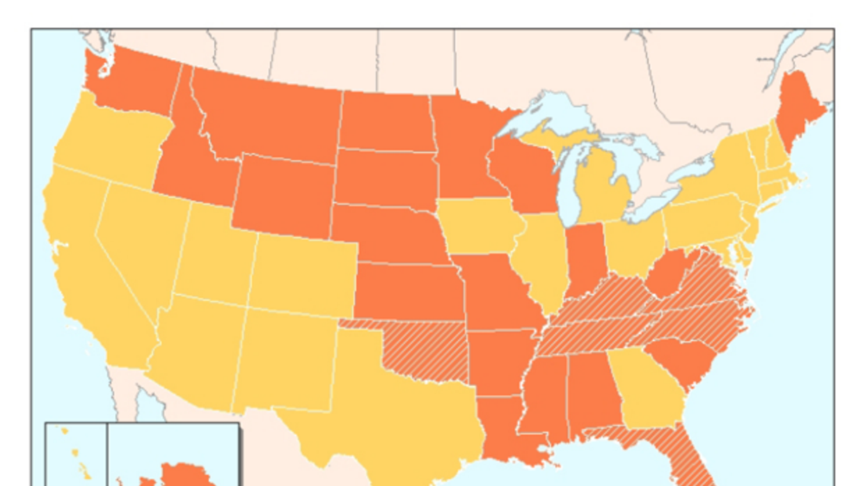 Mapa de leyes sobre la propiedad compartida de paneles en diferentes est...