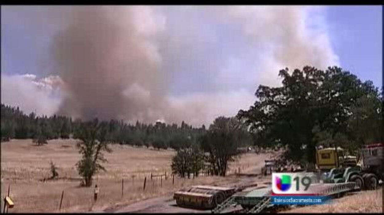 El humo y las llamas de RIM los han obligado a abandonar sus hogares