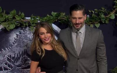 Sofia Vergara y Joe Manganiello amorosos en el lanzamiento de Jurassic W...
