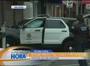 Choque entre patrullas de policía en LA