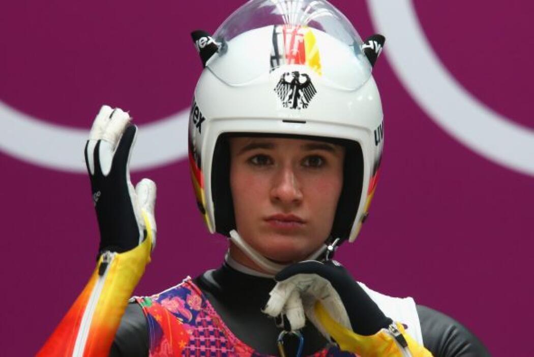 La alemana Natalie Geisenberger es una de las favoritas en la prueba fem...