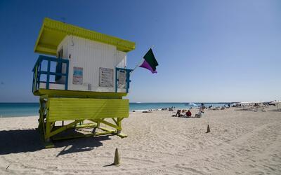 Las muestras de agua de la playa recolectadas epor las autoridades de sa...