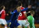 Jamie Vardy fue el protagonista del empate de Leicester y Manchester United