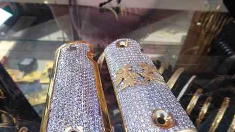 Ahora las cachas de oro y plata son parte de la colección de art&...
