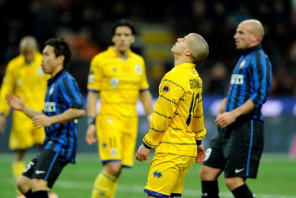 Los jugadores del Parma no podían creer el resultado.