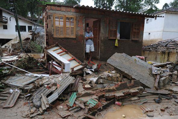 Los damnificados vieron cómo sus casas fueron arrastradas por montones d...