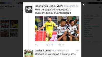 Aquino y Uche se elogian en Twitter Uche.jpg