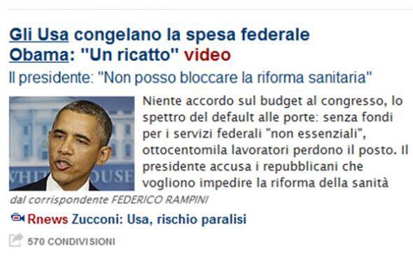 """En Italia, el diario La Repubblica titula su texto: """"La congelaci&oacute..."""