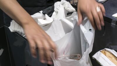 Bolsas plásticas de mercados en Nueva York