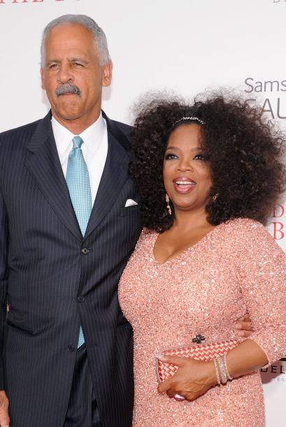 Oprah Winfrey llevó a su inseparable Steadman a la premiere de la...