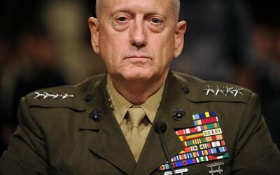 General James Mattis en la audiencia para renombrarlo como general y com...