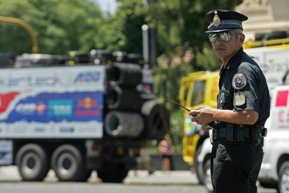 La policía argentina también se declaró lista para...