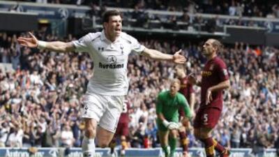 El galés Gareth Bale selló la remontada de los 'Spurs' sobre el City.