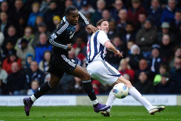 En otro de los juegos, Chelsea se midió al West Bromwich con la o...