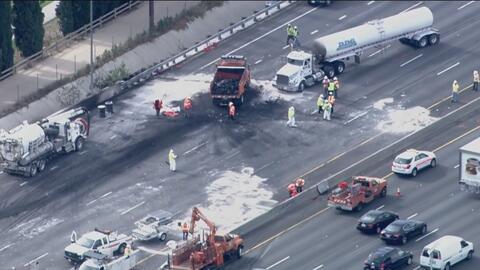 Un accidente sobre la Autopista 5 deja un muerto y al menos nueve heridos