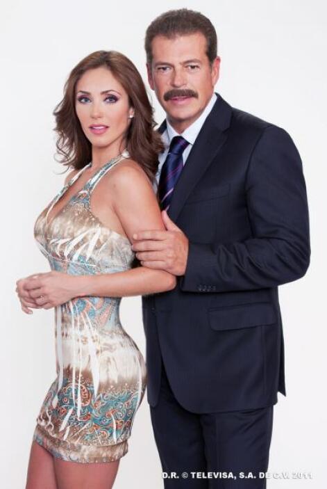 """Anahí y Sergio Goyri se enamoraron en """"Dos Hogares""""."""