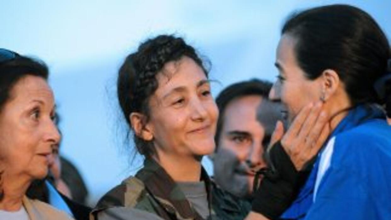 Ingrid Betancourt, liberada de la guerrilla de las FARC durante el gobie...