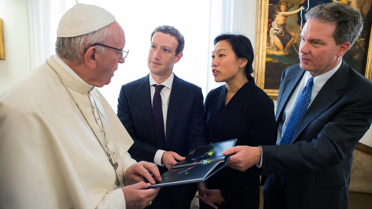 Mark Zuckerberg se reúne con el papa Francisco