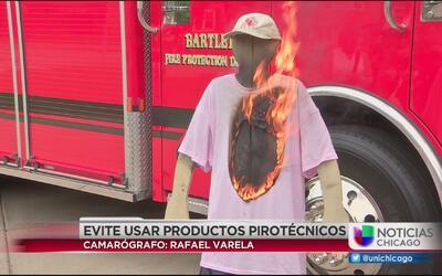 Bomberos alertan sobre el uso de fuegos pirotécnicos