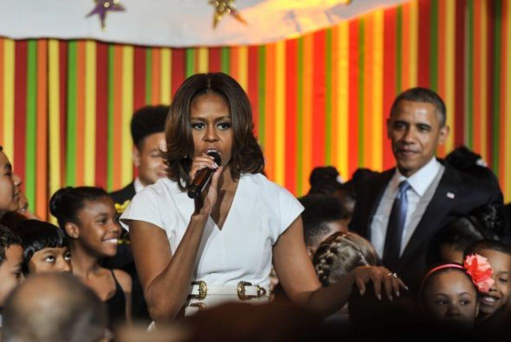 La primera dama, Michelle Obama, se sumó a la actriz Sarah Jessica Parke...