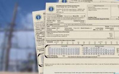 Ejemplo de factura de la Autoridad de Energía Eléctrica