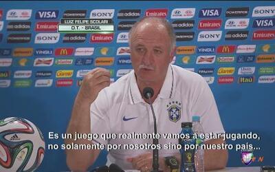 """Luiz Felipe Scolari: """"Éste juego lo jugaremos por nuestro país"""""""