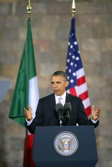 Obama reiteró, al igual que hizo tras reunirse con su homólogo mexicano,...