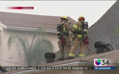 Incendio residencial en Glendale
