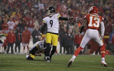 Steelers avanzan a la final de la AFC echando a patadas a los Chiefs