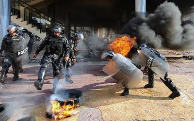 Se desbordó la violencia en el Congreso de Honduras
