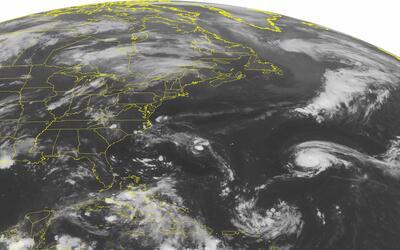 Imagen de satélite de NOAA tomada el sábado 28 de agosto q...