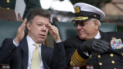 El presidente de Colombia, Juan Manuel Santos, anunció la captura del gu...
