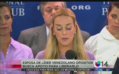 La esposa de Leopoldo López busca apoyo en Washington