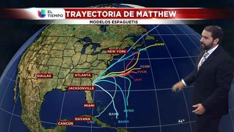 El tiempo: Matthew y fin de semana