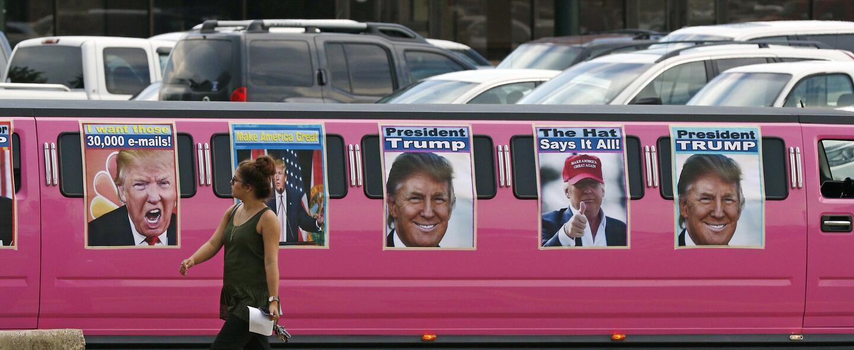 Carteles de Trump en Mississippi.
