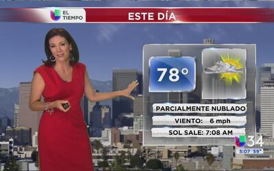 Los Ángeles tendrá un miércoles parcialmente nublado