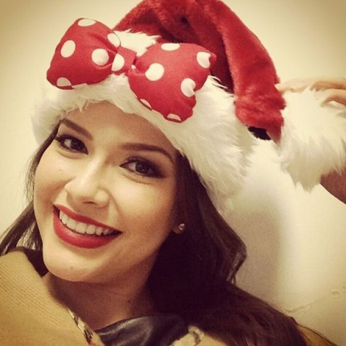 """""""Merry Xmas"""", deseó Ana Patricia. (Diciembre 23, 2013)"""