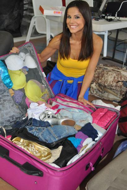 En esta maleta había ropa por montones.