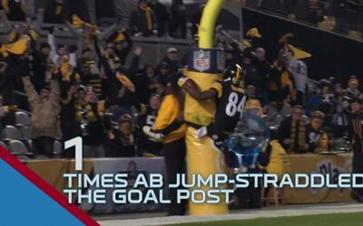 El espectacular Antonio Brown en números