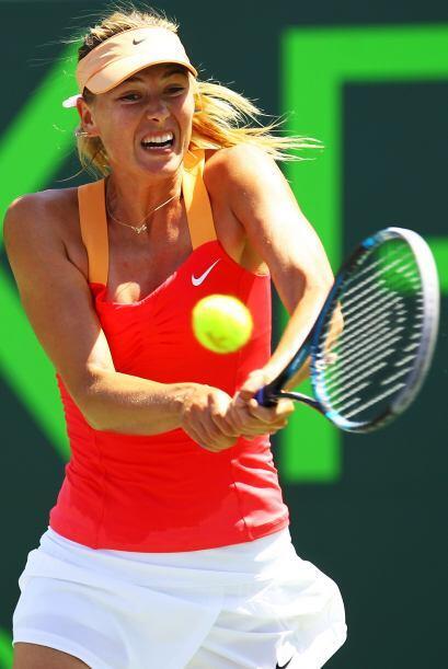 Sharapova superó a su rival en puntos ganadores 103x89.