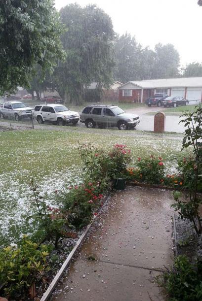 Un día lluvioso captado por Sammy Pérez desde Tulsa.