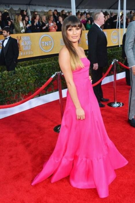 Lea Michele ahora sí, poco a poco va luciendo como estrella. Pero le voy...